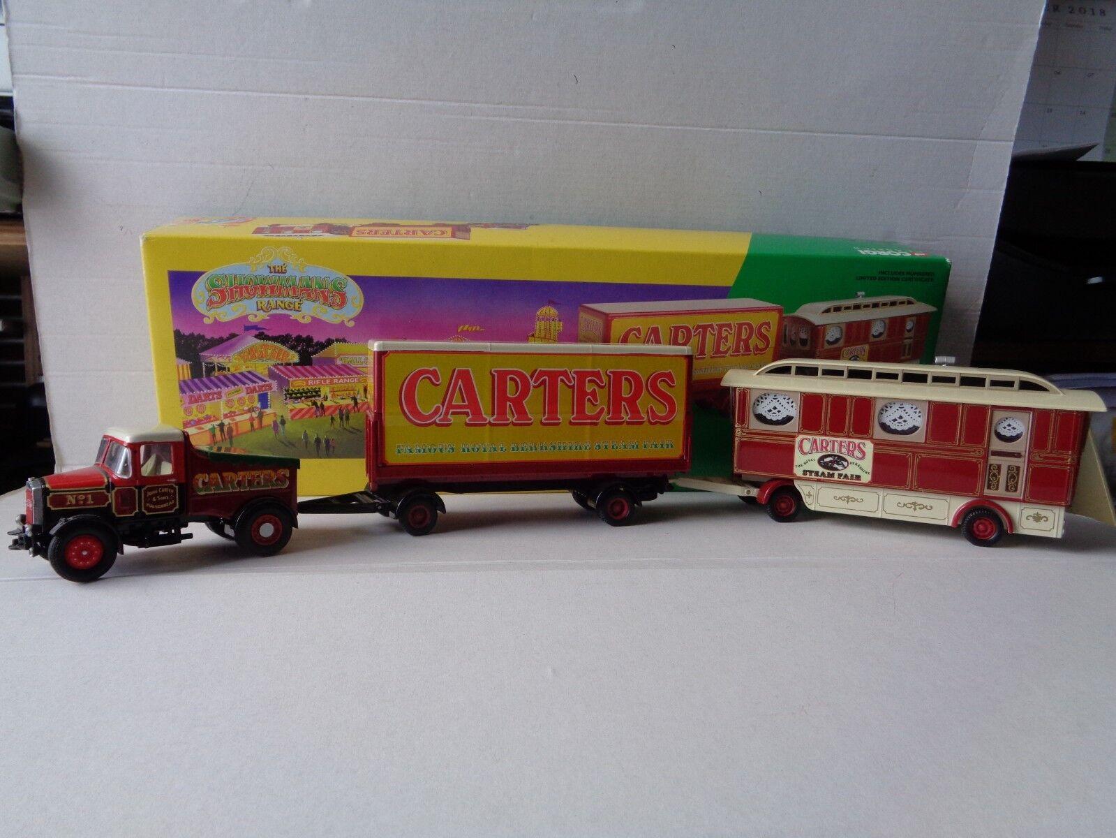 Corgi Model CC15501 Scamell Highwayman +Trailer & Caravan  Carters