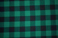 Gingham Poplin Print #19 Cotton Lycra Spandex Stretch Woven Apparel Fabric BTY