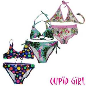 7b56374152 Image is loading NEW-CUPID-GIRLS-SWIMWEAR-BIKINI-SWIM-SIZE-8-