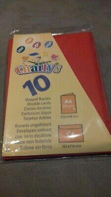 10 X Doppelkarten/faltkarten A6 Mit 10 X Umschlägen C6 - Farbe: Rot Durch Wissenschaftlichen Prozess