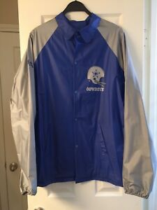 more photos bc01c 0a387 Details about VTG Dallas Cowboys 1980's Rain jacket men's size- Large Jovan  American's Team