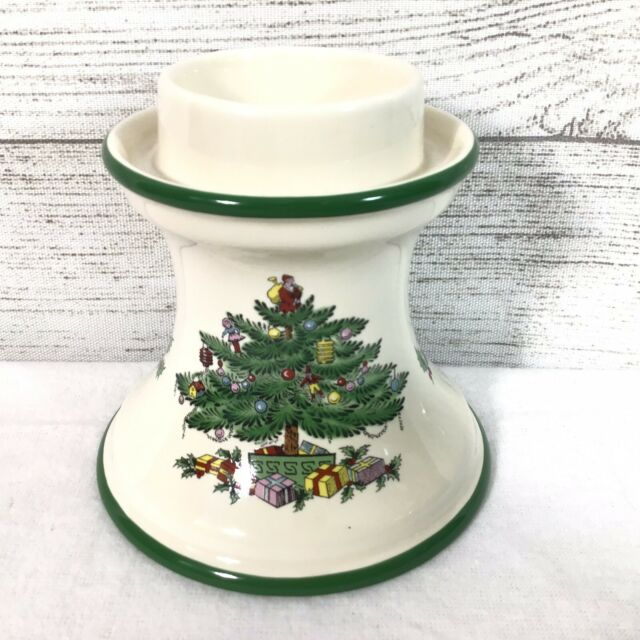 Spode Christmas Tree Candle Holder: Spode Christmas Tree Candle Stick Holder Hurricane Lamp