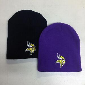 Minnesota-Vikings-Short-Beanie-Skull-Cap-Hat-Embroidered-Minn-MN