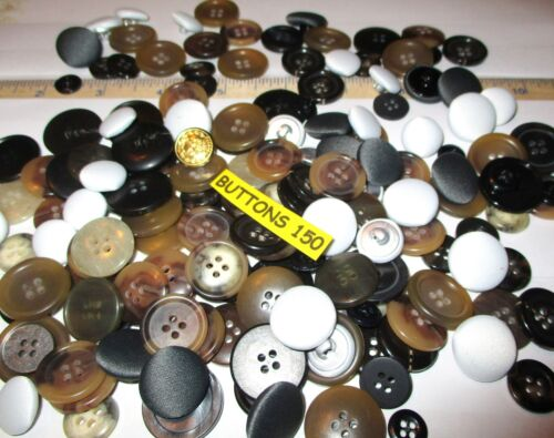 150 Assorted Sewing /& Craft Buttons USA Button Company High Quality Many Matches