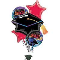 Graduation Reflections Bouquet 5 Balloons 1 - 31 + 4 - 18 W/ Ribbon & Weight
