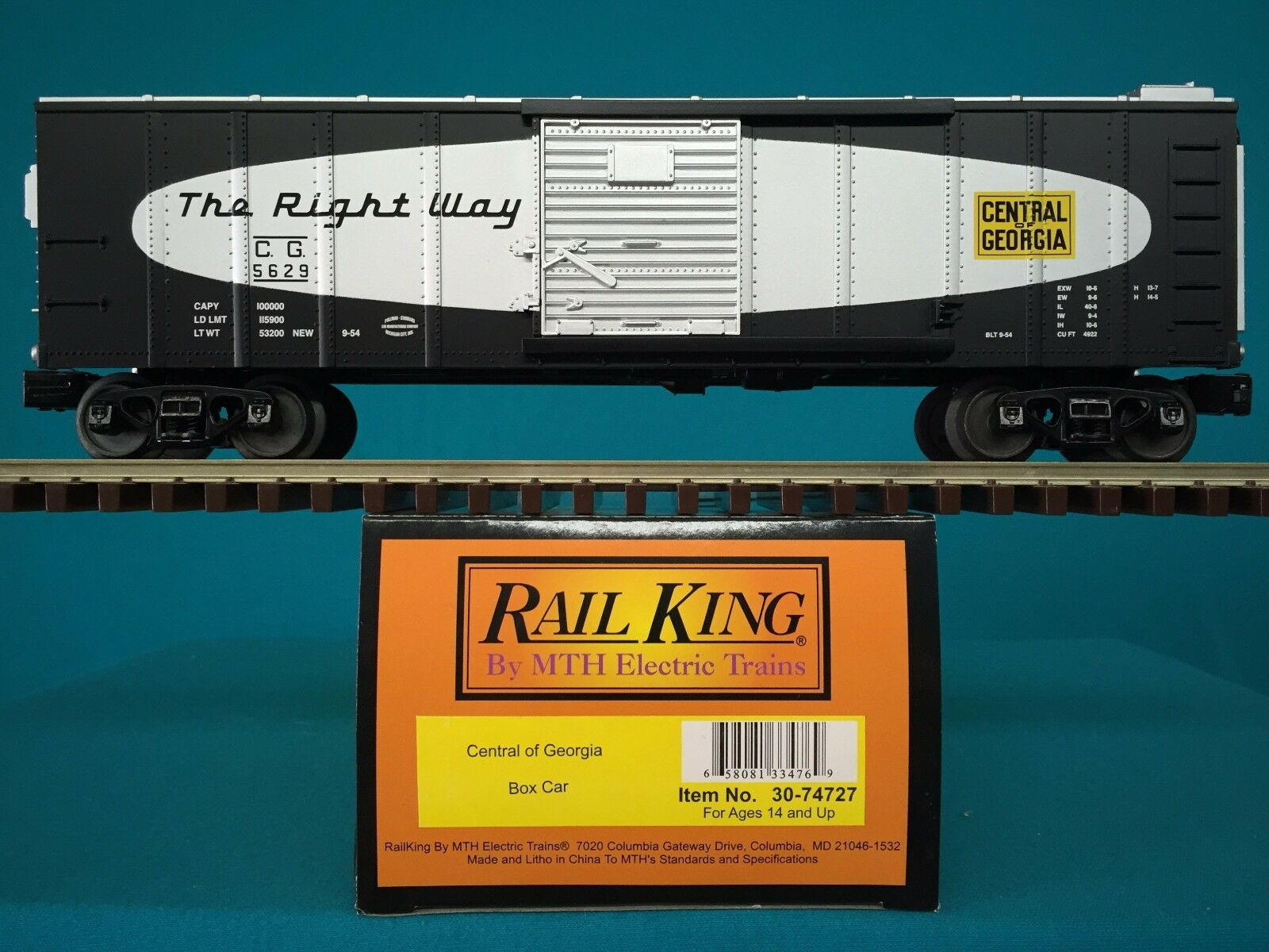 Mit railking box car zentrale georgia o   o27 waggons 30-74727