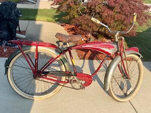 Vintage BF Goodrich 1952 red Schwinn Phantom! Rare collectible item.