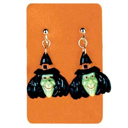 Ohrringe Hexe Hexenohrringe Horror Halloween Kostüm Hexenkopf 127679113