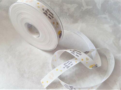 15mm various lengths  ** NEW LINE ** Berisfords STORK Taffeta ribbon baby