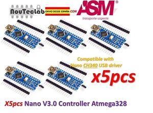 5pcs-Nano-V3-0-Controller-Board-Atmega328P-Nano-V3-CH340-ENVIO-RAPIDO