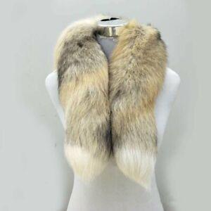 Real-Golden-Fox-Fur-Scarf-Women-Winter-Warm-80-90cm-Long-Tail-Scarf-Collar-Scarf