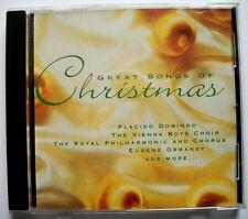 GREAT SONGS OF CHRISTMAS: Ave Maria, etc (CD) PLACIDO DOMINGO, VIENNA BOYS CHOIR