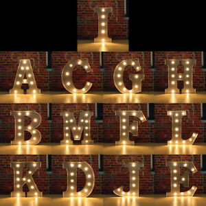 Led 12 Alphabet Light Up Letter Lights Marquee Vintage Circus Style