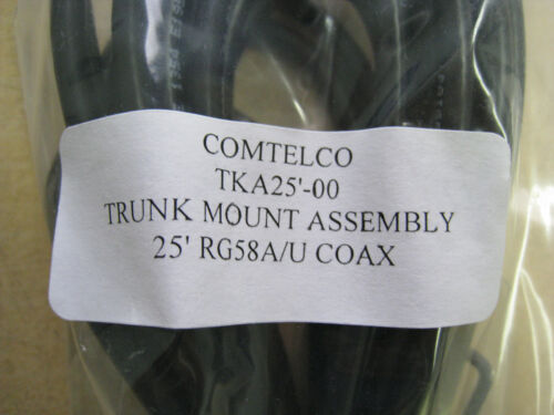 5x COMTELCO TKA25/'-00 Trunk Mount Antenna Cable 25/' RG58A//U COAX w//o connector