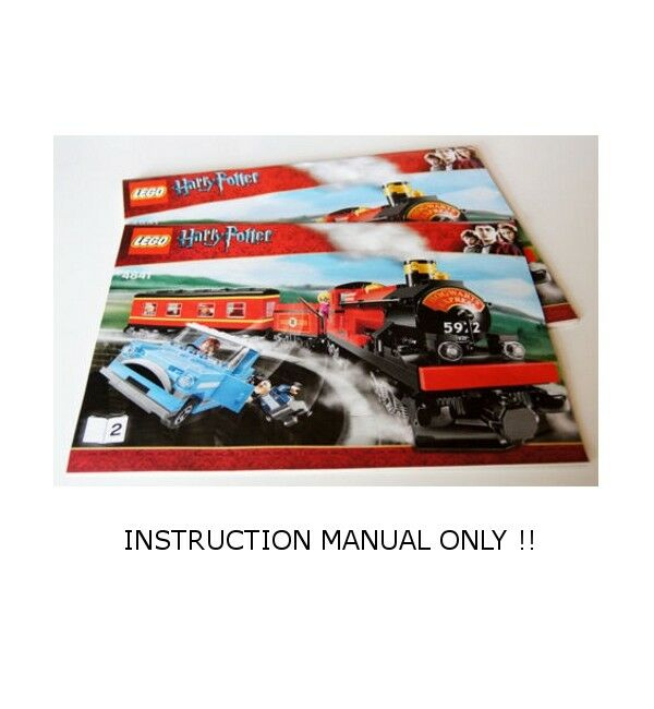 LEGO 4841 - HARRY POTTER - - - Hogwarts Express - INSTRUCTION MANUAL - BOOK 1 & 2 69a435