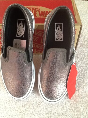 b3ea7e3e547c 2 of 8 Vans Girls Metallic Silver Slip On Shoes/ Sizes: 10.5, 11, 11.5,