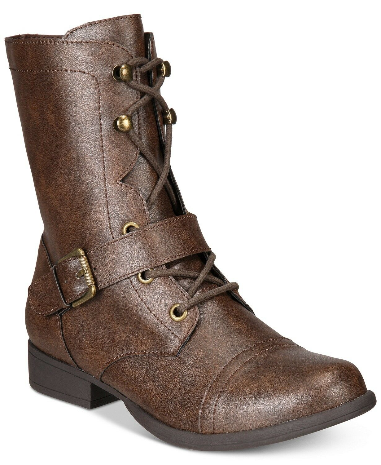 American Rag Women  Brown  Farahh  Combat Booties     Size  8.5