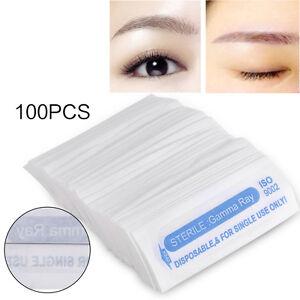 100Pcs Eyebrow Tattoo Machine Round Disposable Needle Pin Permanent ...