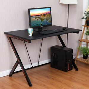 Image Is Loading Computer Desk Racing Gaming Table Sport Study Workstation