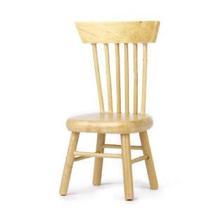 À Chaise Miniature Détails Salle De Naturel Meuble Sur Maison En Bois Manger Poupée 112 tsQxhrCd