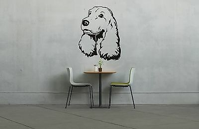 Cocker Springer Spaniel Puppy Dog Vinyl Novelty Wall Art Decal Sticker