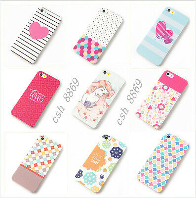 "For Apple iPhone 5 5S 5C 6 4.7"" Hard Cute Patterned Case Cover Thin Back Skin"