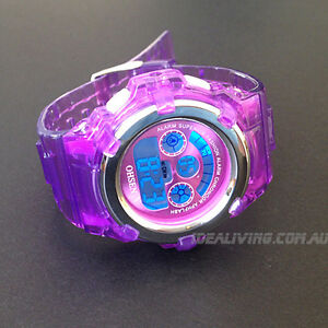 OHSEN-digital-sport-watch-Purple-girls-kids-alarm-easy-to-tell-time-gift-box