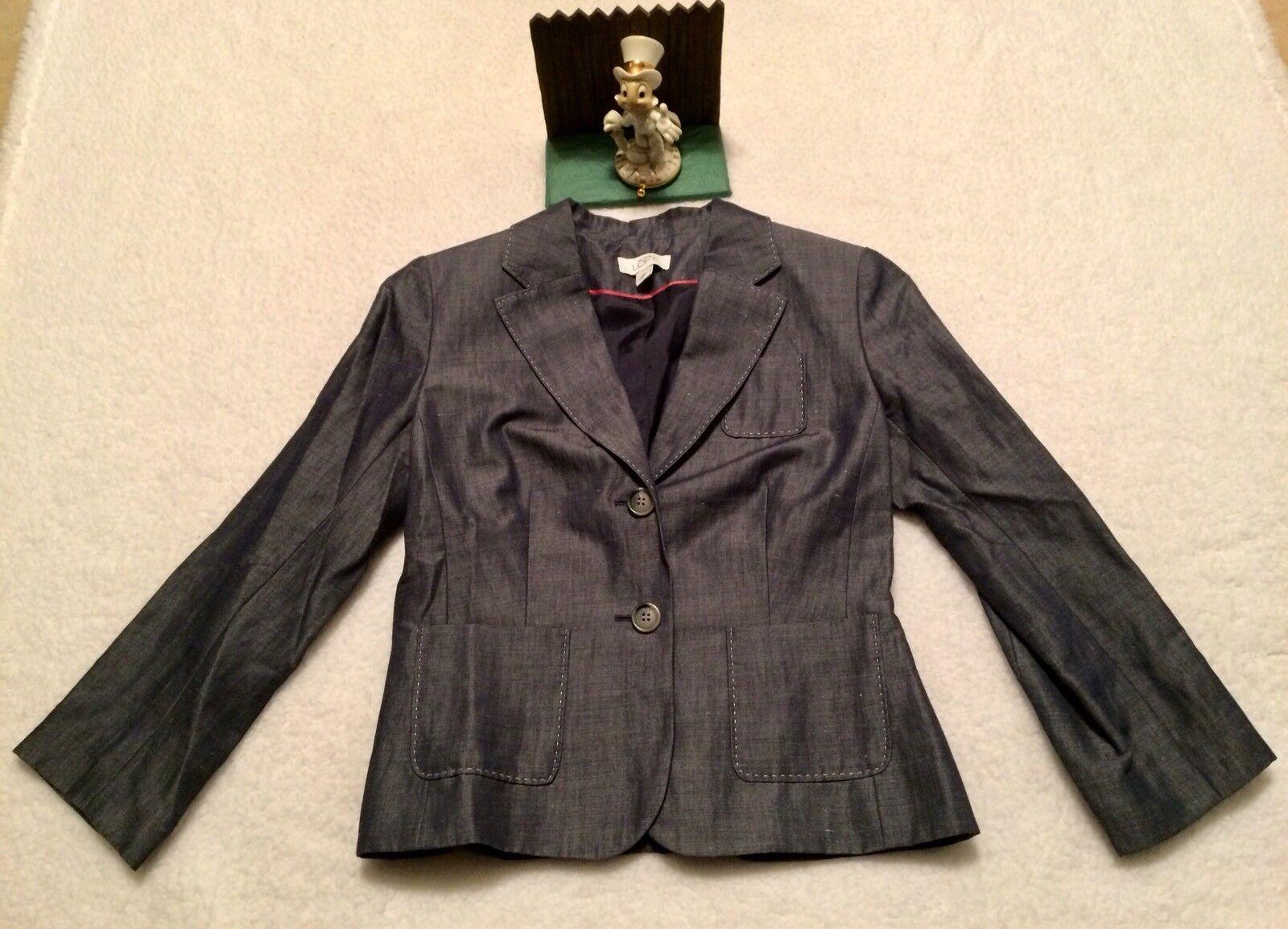 Ann Taylor Loft Ramie Cotton bluee blazer 2 New Display.... Nice