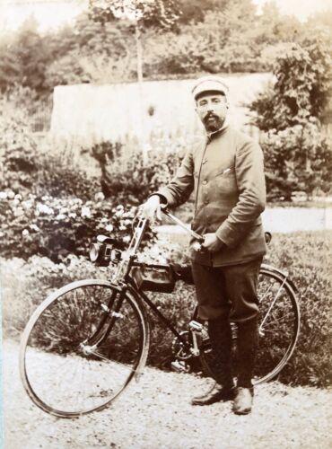 Cycliste de Meurthe-et-Moselle septembre 1892 albuminé France