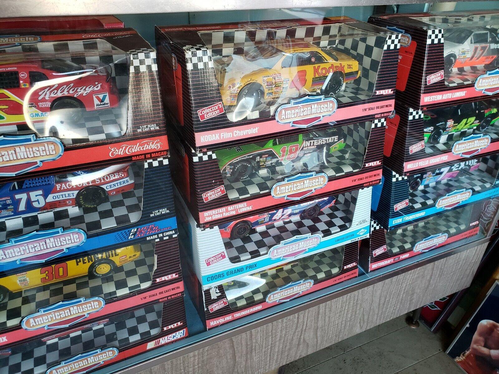 Lot of 12 Ertl American Muscle 1 18 Scale Diecast Racing Cars NIB NOS