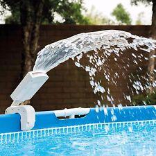Swimming Pool Waterfall Intex Mult-Color LED Pool Water Sprayer Red Blue Green