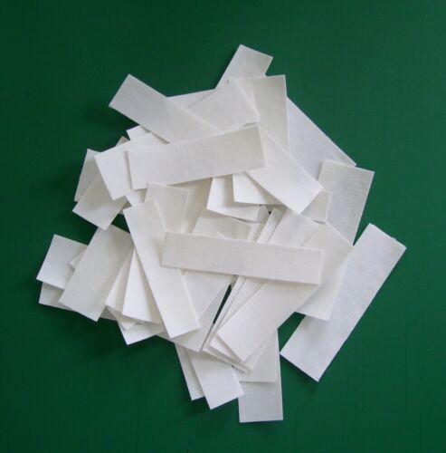 "30 ASSORTED COTTON BLANK /""IRON ON/"" NAME LABELS"
