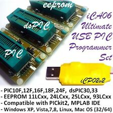 iCA06 Ultimate USB PIC/dsPIC/EEPROM Zif Programmer Set with PICkit2 & MPLAB SW