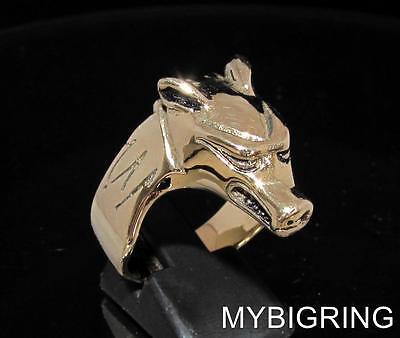 BRONZE RING ANUBIS GOLDEN CHAKAL PROTECTOR OF THE DEAD GOD FUNERAL ANY SIZE