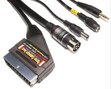 Amstrad CPC 464 & 6128 High Quality POWERED RGB Scart Cable TV Video Lead