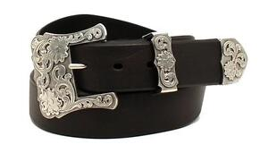 Nocona Western Womens Belt 3 Pcs Black N3497701