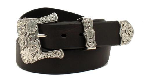 Nocona Western Womens Belt 3 Pcs Black N3497701