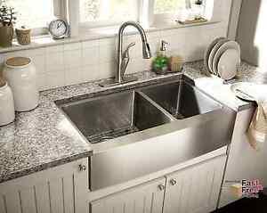 60 40 Kitchen Sink 33 kitchen sink farmhouse apron 6040 deep double bowl 16 gauge image is loading 33 034 kitchen sink farmhouse apron 60 40 workwithnaturefo