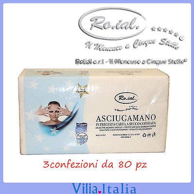 Health & Beauty Asciugamano Di Carta Usa E Getta 3 Confezioni Da 80pz Ro.ial
