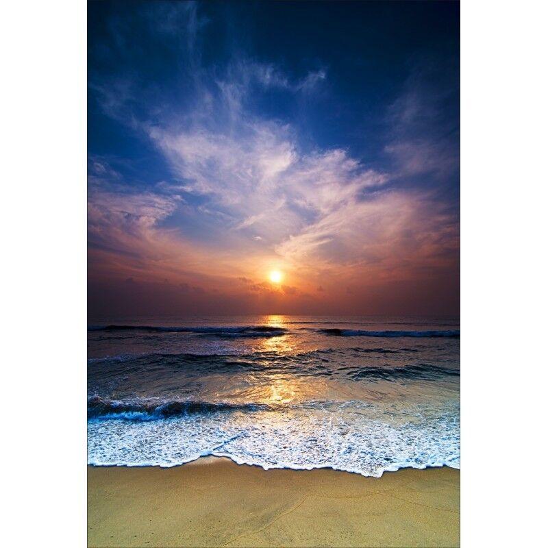 Stickers muraux déco déco déco : coucher de soleil sur la plage 1378 2a0416