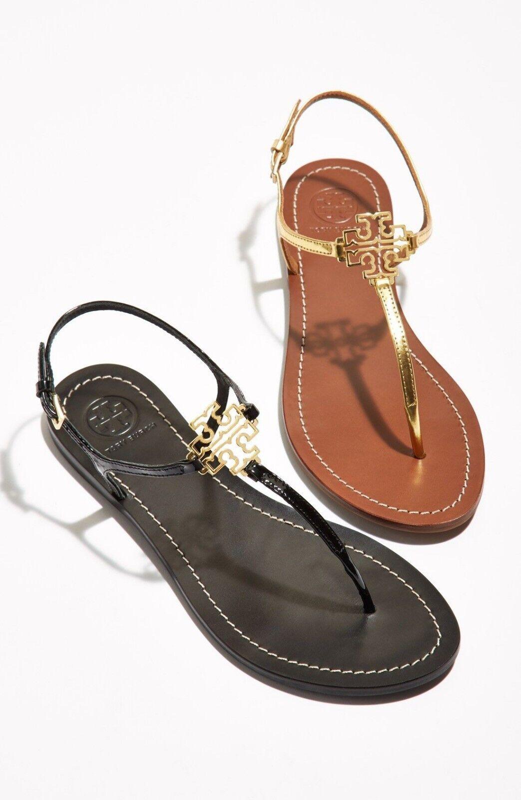 TORY BURCH Melinda Flat Thong Sandal  MIRROR METALLIC oro o Sandali nero  servizio onesto