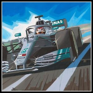 Painting-Lewis-Hamilton-6-times-WC-Comic-Collection-by-Toon-Nagtegaal