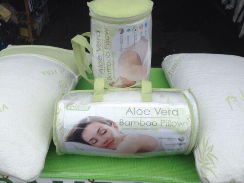 ALOE VERA BAMBOO PILLOW Memory Foam Pillow King or Queen Best Pillow Ever