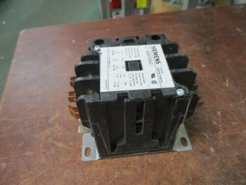 Siemens Contactor 42AF35AG 208-240V Coil 25A 600V 3P W// Aux Contact