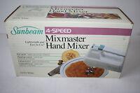 Vintage Sunbeam Mixmaster Hand Mixer 4 Speed White 03151 1988