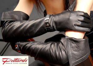 57011194b5d60b Kleidung   Accessoires Lange Rindnappa Handschuhe mit RV Leather Gloves  Damen-Accessoires