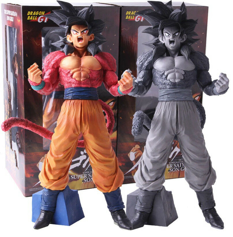 DRAGON BALL GT - Figur Goku Super Saiyan 4 Master Stars Piece 3 Farben, 32 cm.