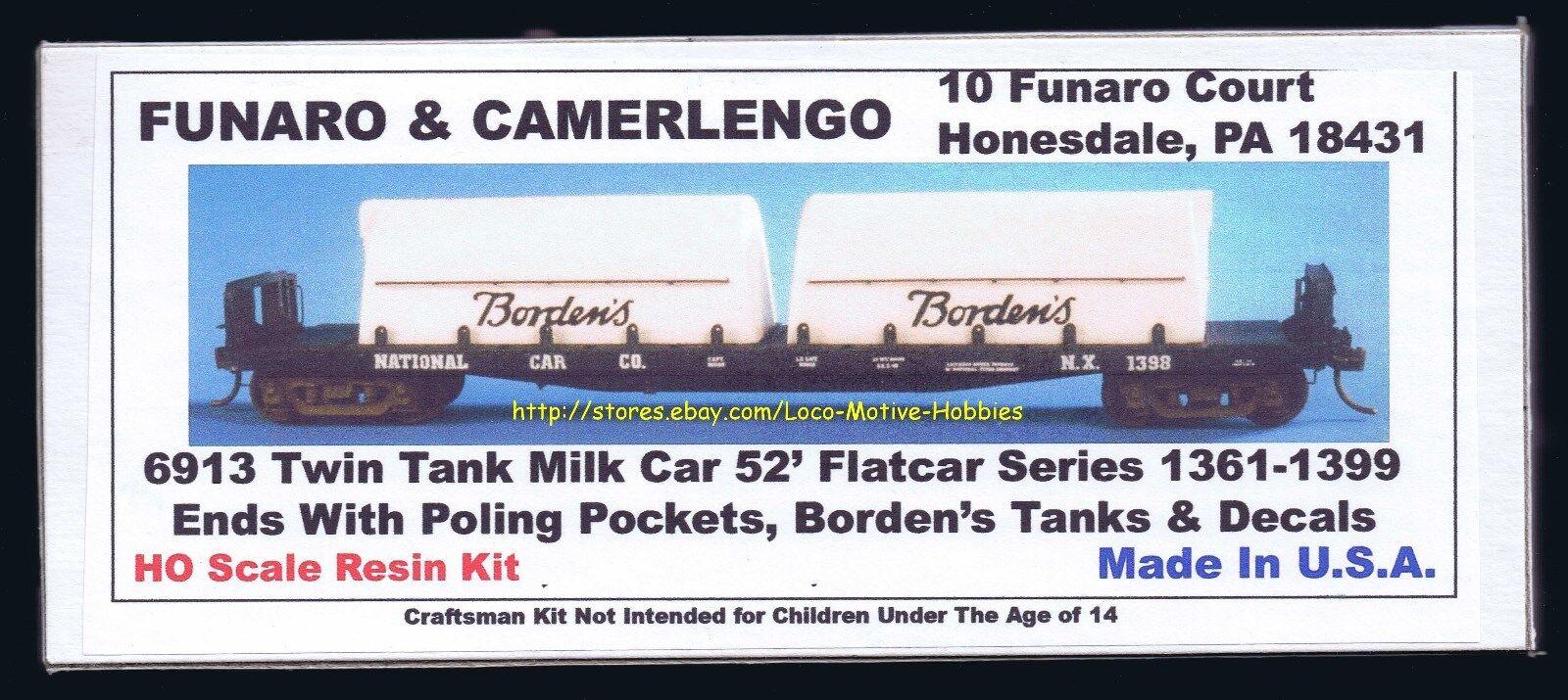 Tienda de moda y compras online. Funaro Funaro Funaro F&C 6913 coche doble tanque de leche 52' Nacional plana Borden's Borden pertigado pokt  venta con descuento