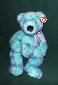 1f3e857bc4f Bluebeary Ty Beanie Buddy Bear 1999 Teddy Plush Blue Fur 15   tall ...