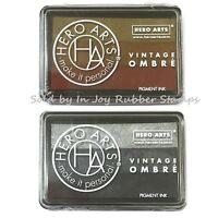 Hero Arts Vintage Ombre Rust Or Steel Metallic Pigment Ink Pad